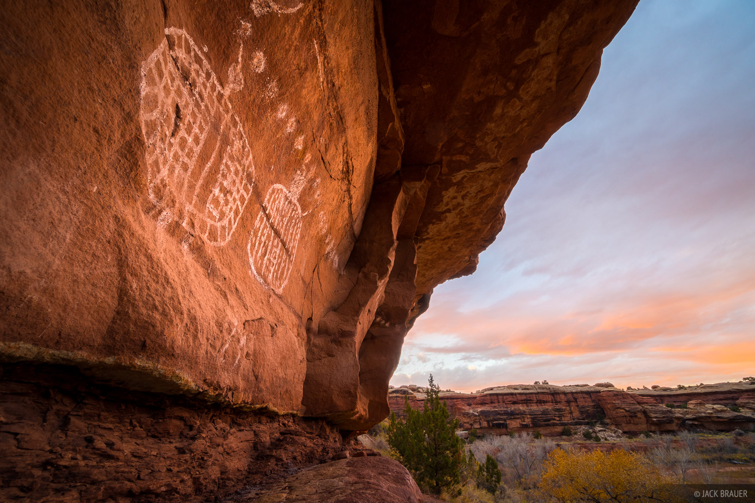 Canyonlands National Park, Peakaboo, Salt Creek, Utah, pictographs, November, photo