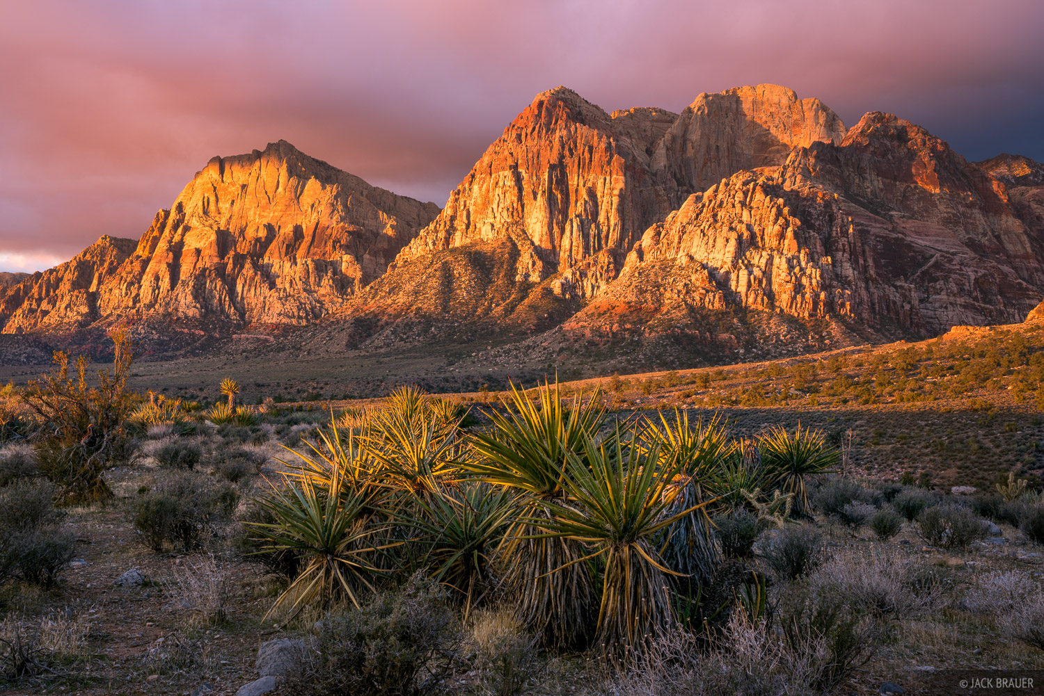 Nevada, Red Rock Canyon, sunrise, photo