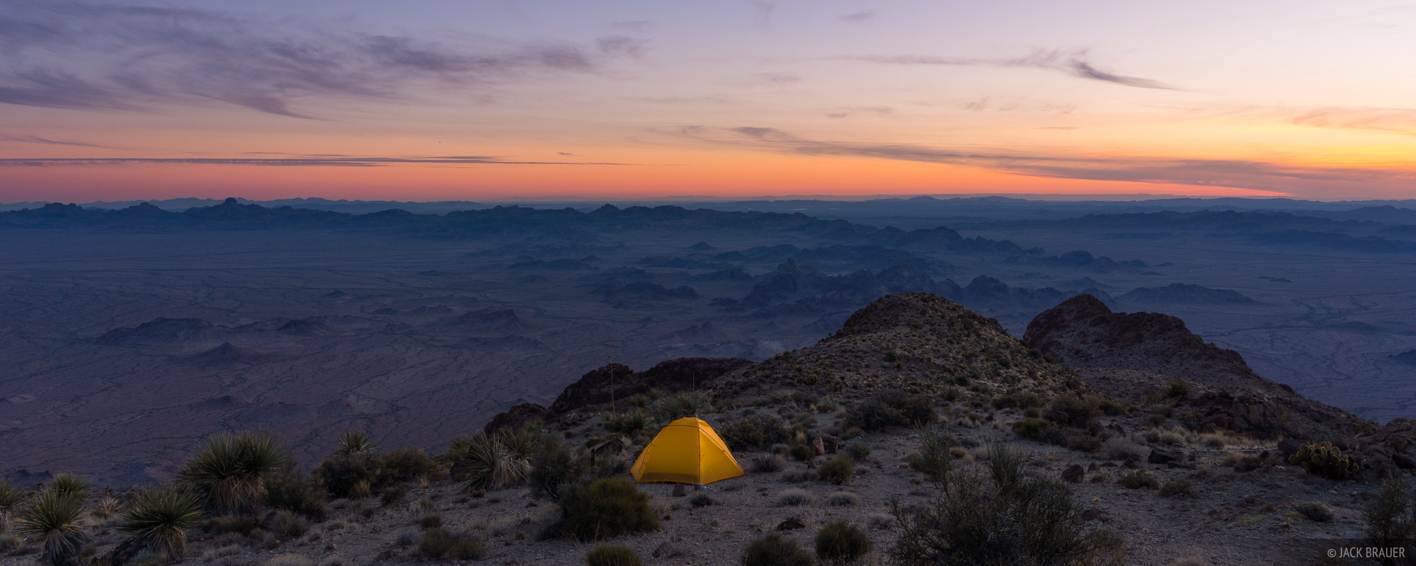 Arizona, Castle Dome Mountains, Kofa National Wildlife Refuge, Signal Peak, tent, Kofa Mountains