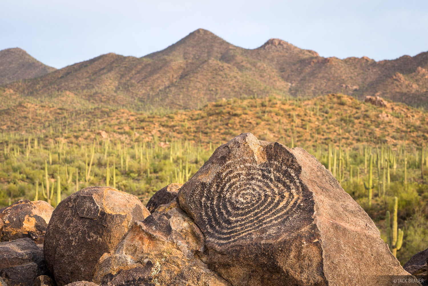 Arizona, Saguaro National Park, petroglyphs, Hohokam, Signal Hill, photo