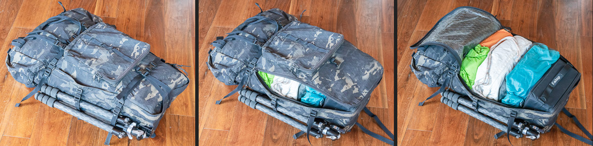 Seek Outside Exposure panel loading backpack