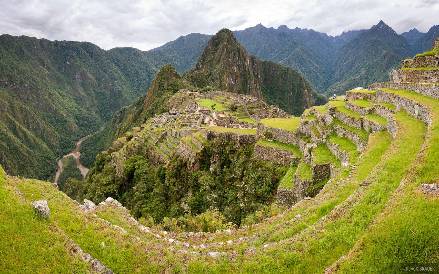 Incan terraces above Macchu Picchu.