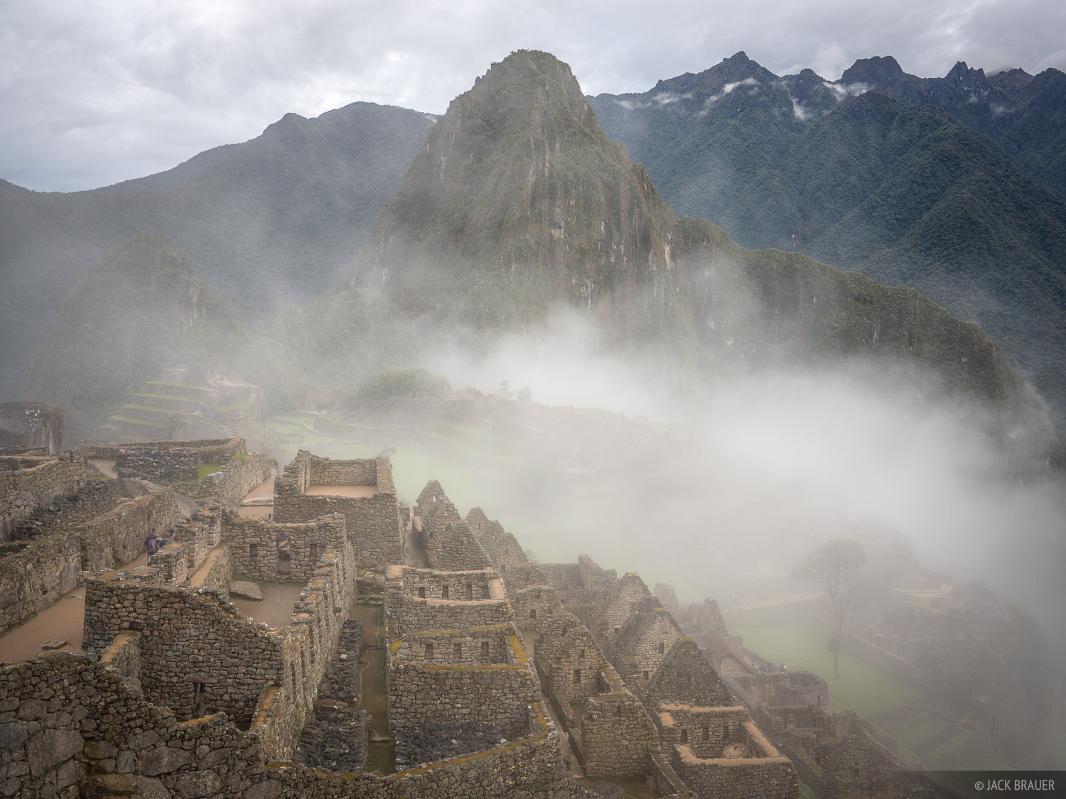 Misty clouds amongst the Incan ruins of Macchu Picchu.