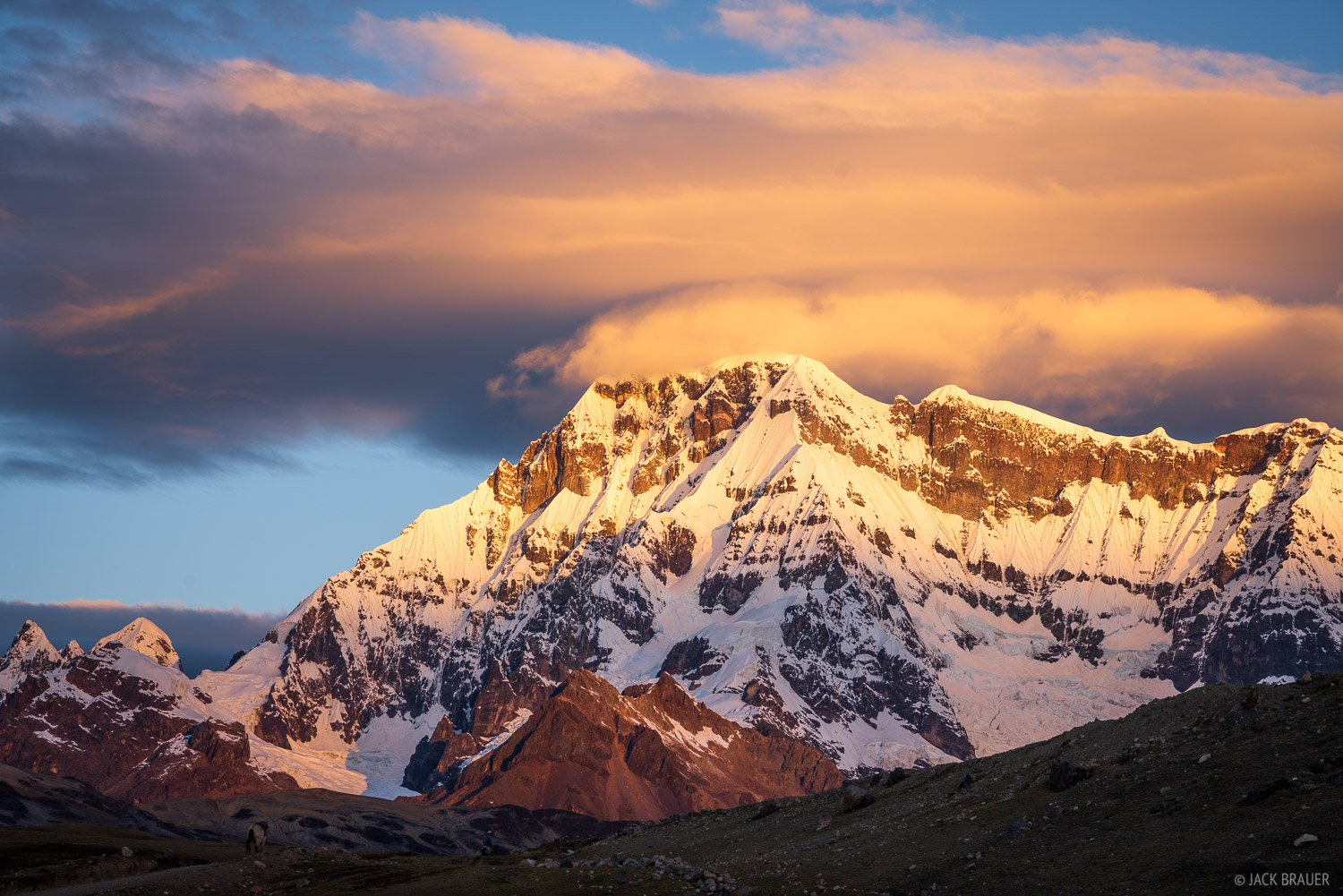 Ausangate, Cordillera Vilcanota, Peru, South America, Upis, sunset, photo