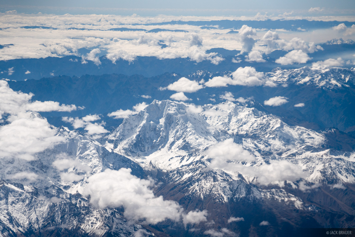 Cordillera Vilcabamba, Nevado Salkantay, Peru, South America, aerial, photo
