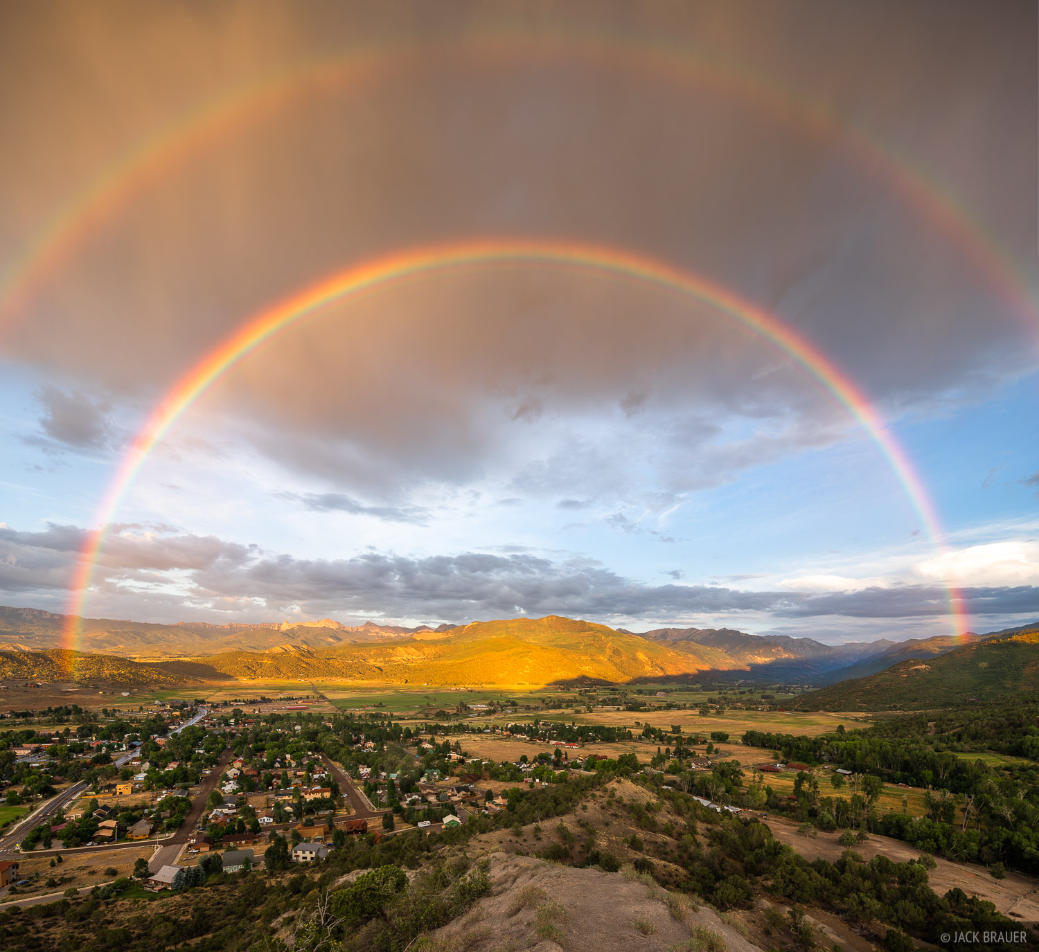 Colorado, Ridgway, San Juan Mountains, rainbow, photo