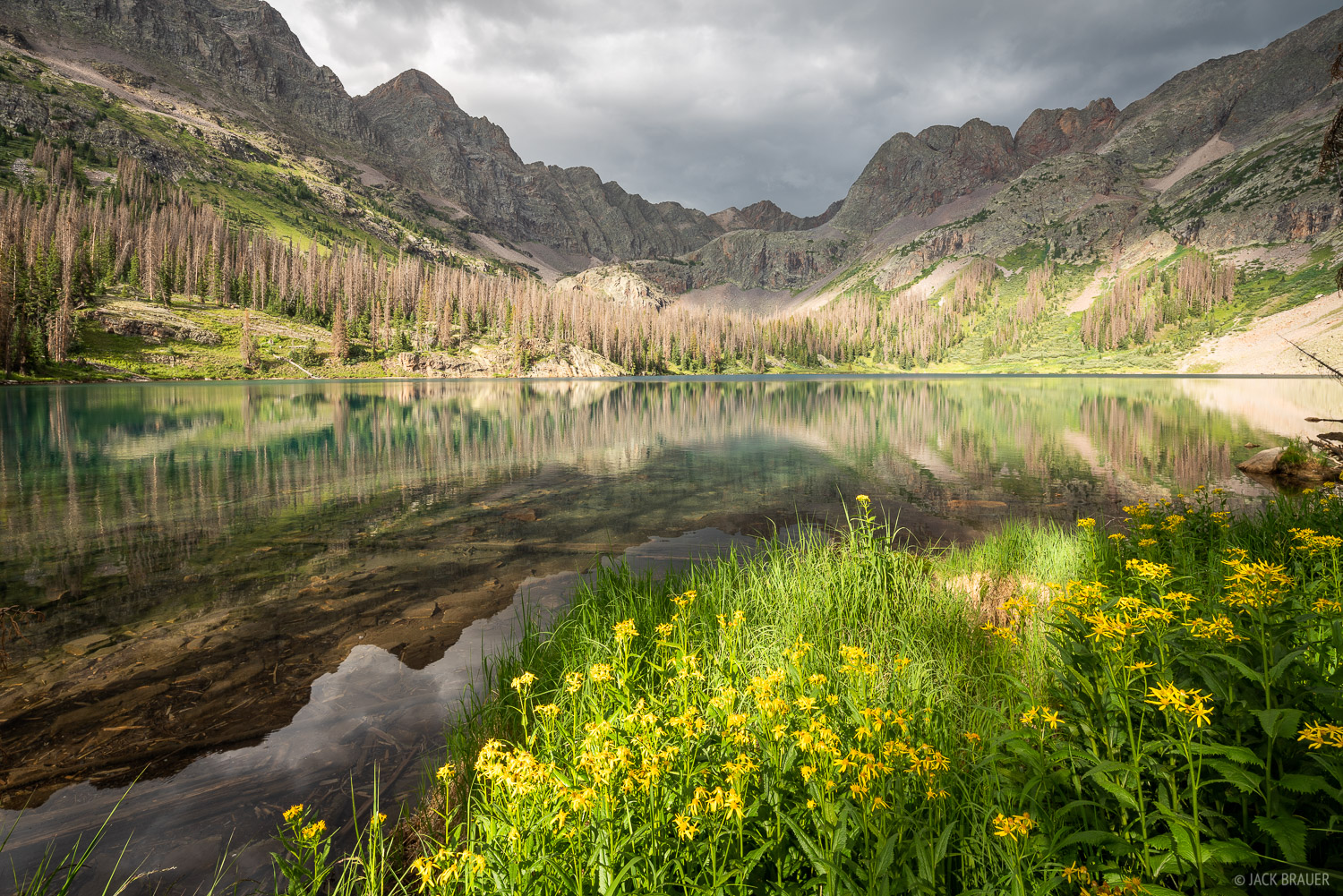 Balsam Lake, Colorado, San Juan Mountains, Weminuche Wilderness, reflection, photo