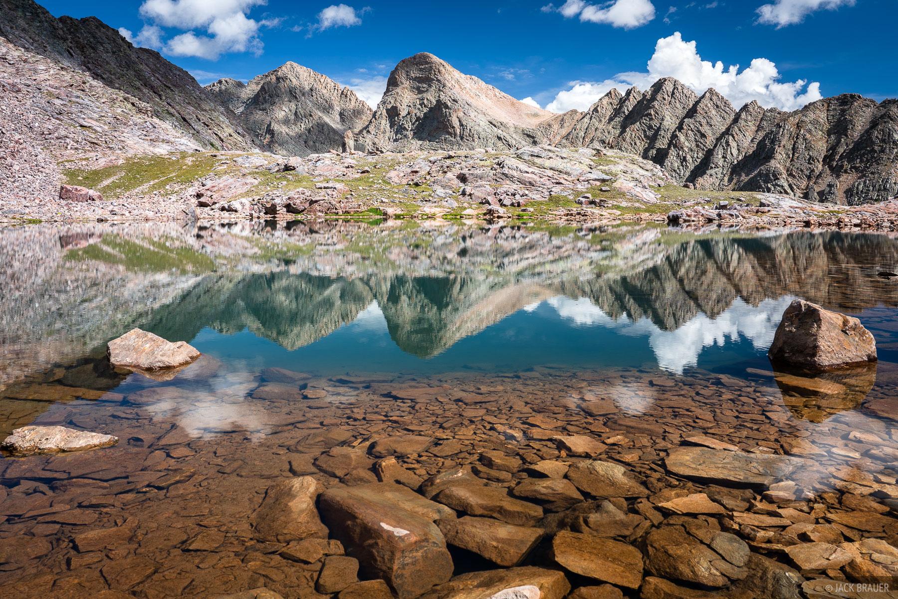 Colorado, Grenadier Range, San Juan Mountains, Trinity Peaks, Weminuche Wilderness, reflection, photo