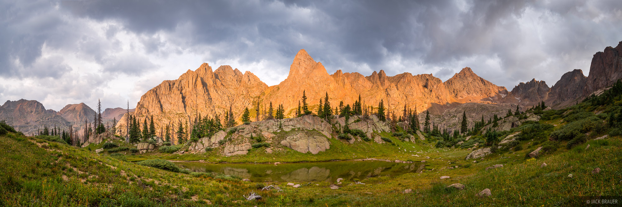 Colorado, Knife Point, Needle Mountains, San Juan Mountains, Sunlight Peak, Weminuche Wilderness, 14er, panorama, sunset, photo