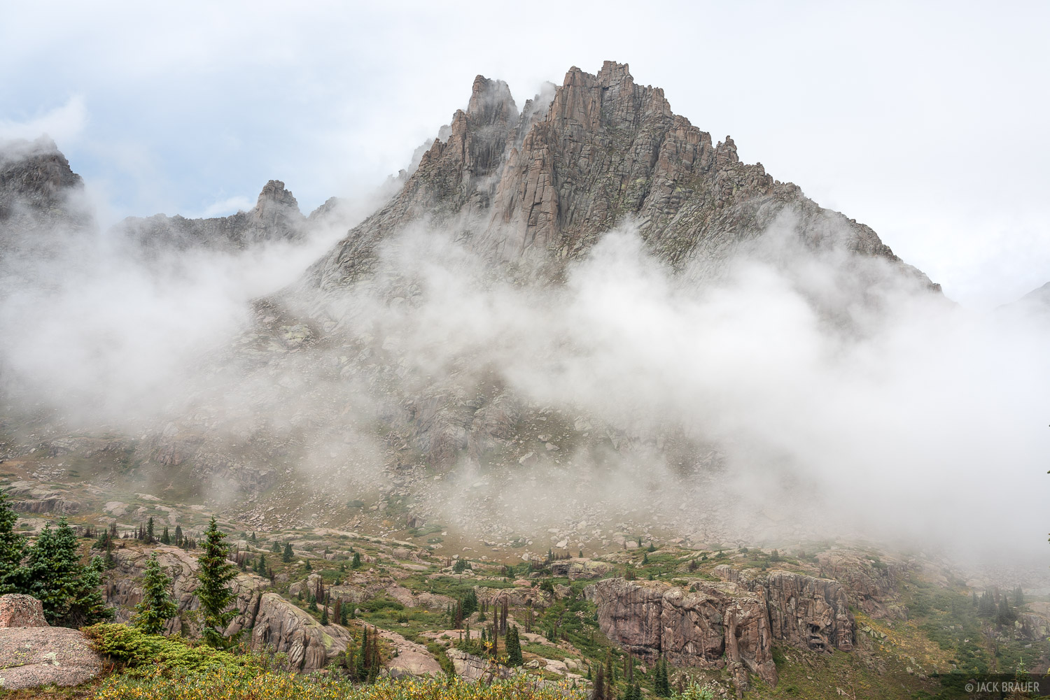 Colorado, Jagged Mountain, Needle Mountains, San Juan Mountains, Weminuche Wilderness, photo