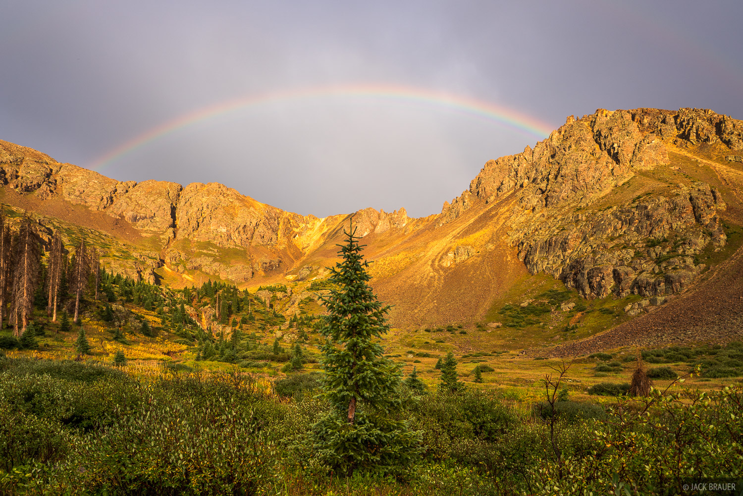 Colorado, Needle Mountains, San Juan Mountains, Weminuche Wilderness, rainbow, sunset, photo