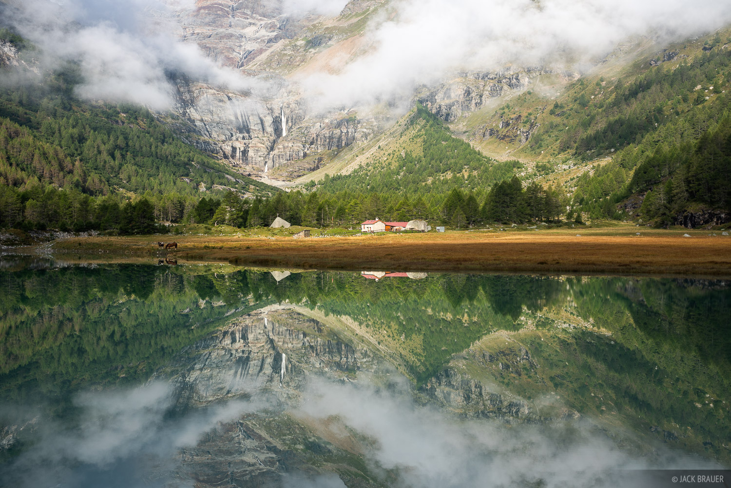 Alpe Palü, Bernina Range, Rhaetian Alps, Switzerland, reflection, photo