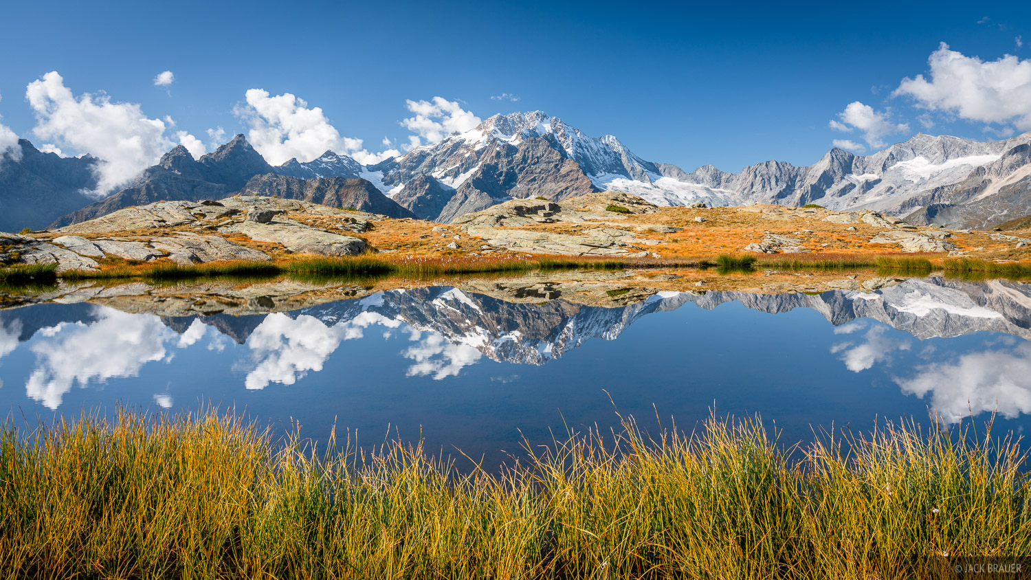 Bernina Range, Italy, Monte Disgrazia, Rhaetian Alps, reflection, photo