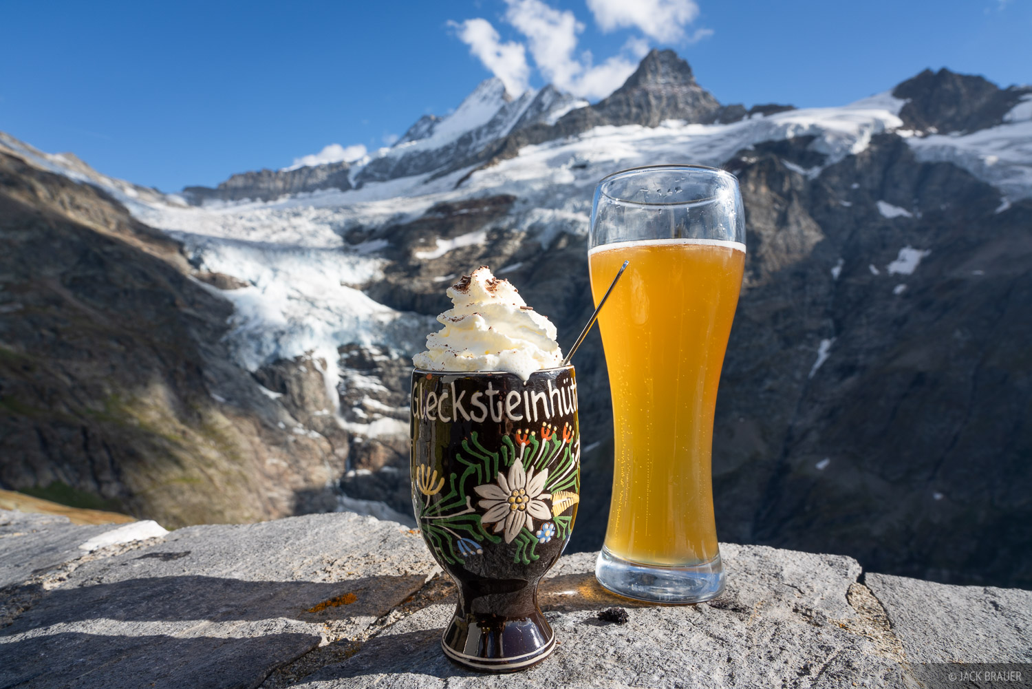 Bernese Alps, Glecksteinhütte, Schreckhorn, Switzerland, beer, Bernese Oberland, Alps, photo