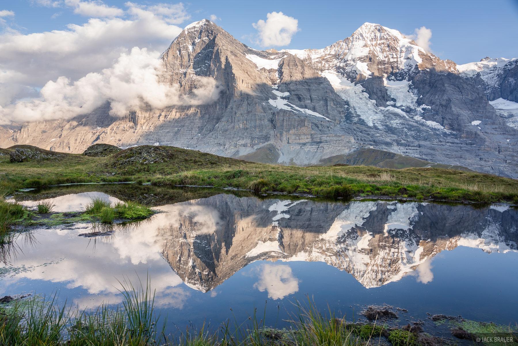 Bernese Alps, Eiger, Kleine Scheidegg, Mönch, Switzerland, reflection, photo