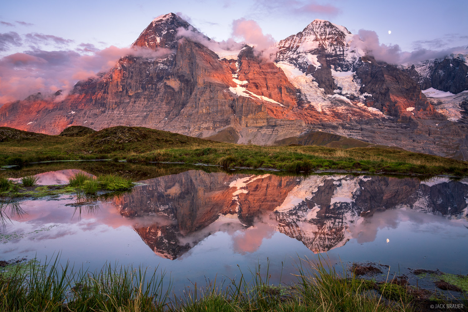 Bernese Alps, Eiger, Kleine Scheidegg, Mönch, Switzerland, reflection, Bernese Oberland, Alps, photo