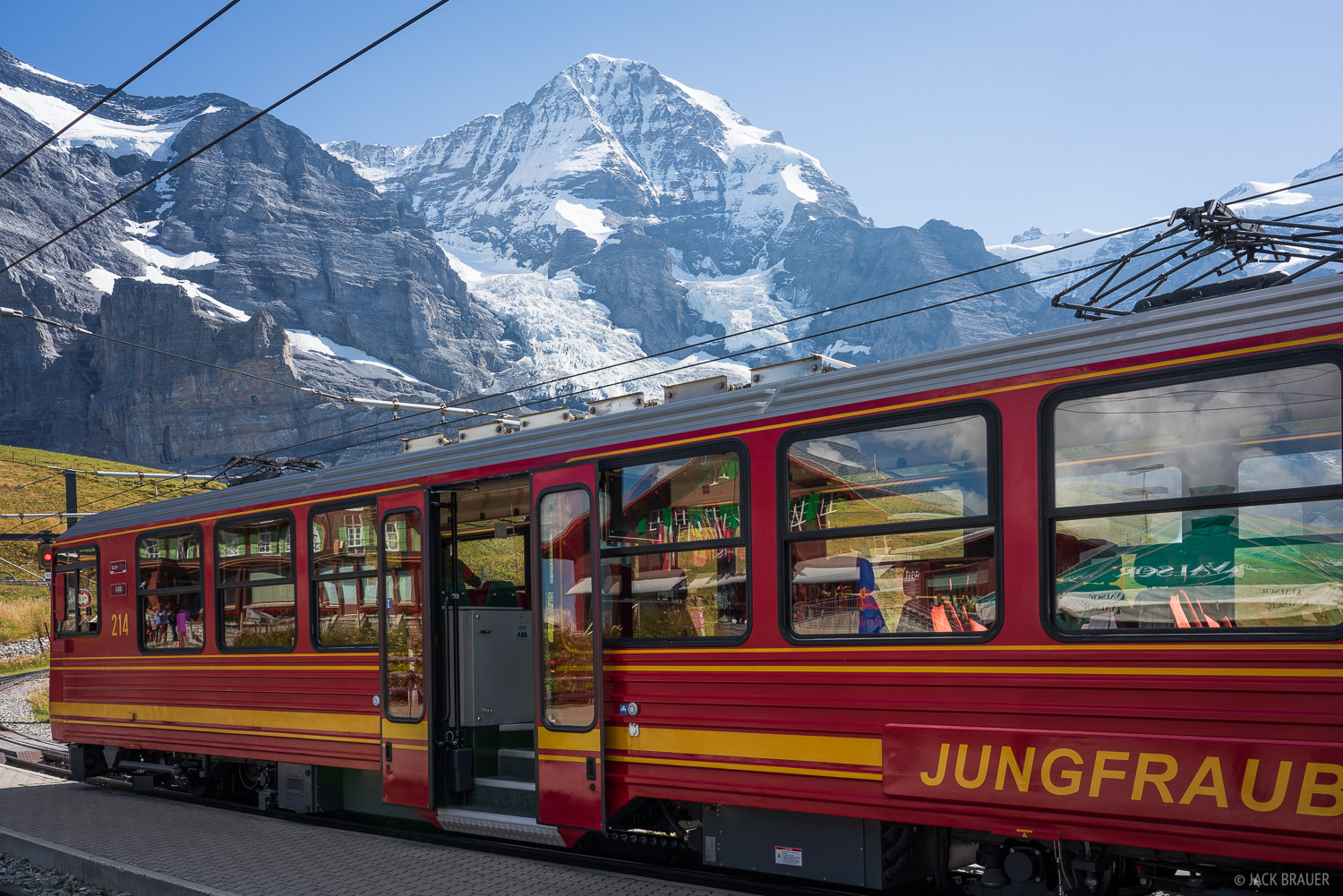 Bernese Alps, Jungfraubahn, Kleine Scheidegg, Mönch, Switzerland, train, photo