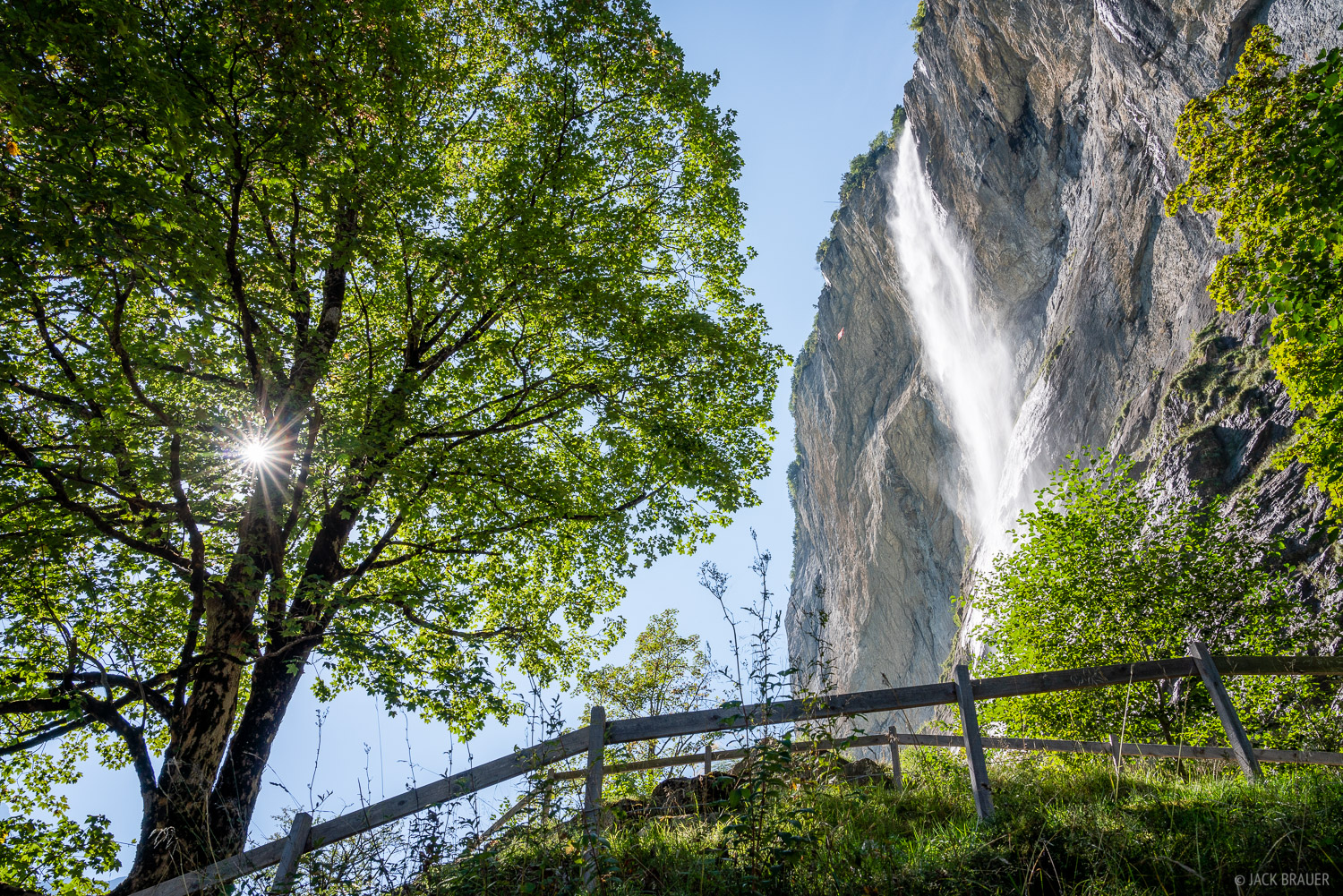 Bernese Alps, Lauterbrunnen, Lauterbrunnental, Staubbachfall, Switzerland, waterfall, Bernese Oberland, photo