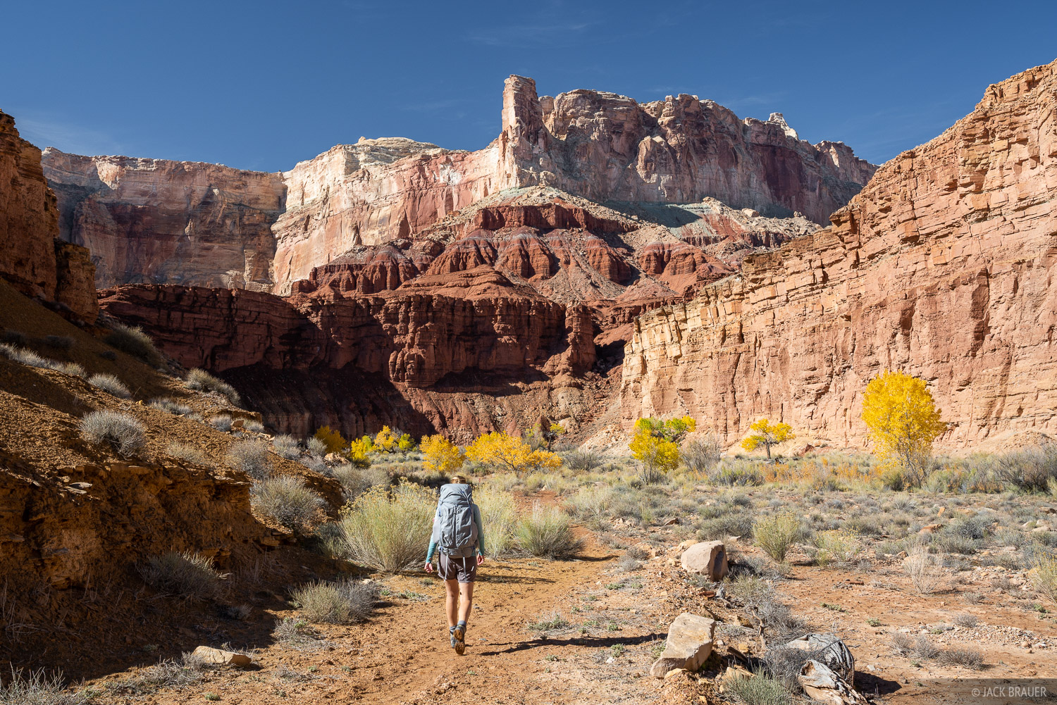 Hiking near Muddy Creek - San Rafael Swell, Utah.