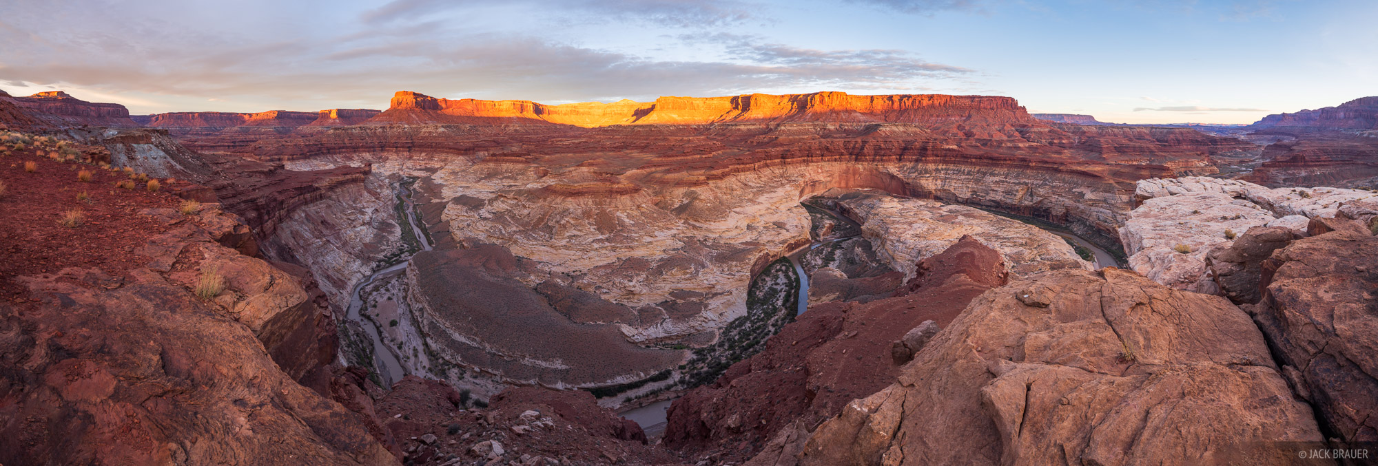 Dirty Devil River, Robbers Roost Country, Utah, panorama, photo