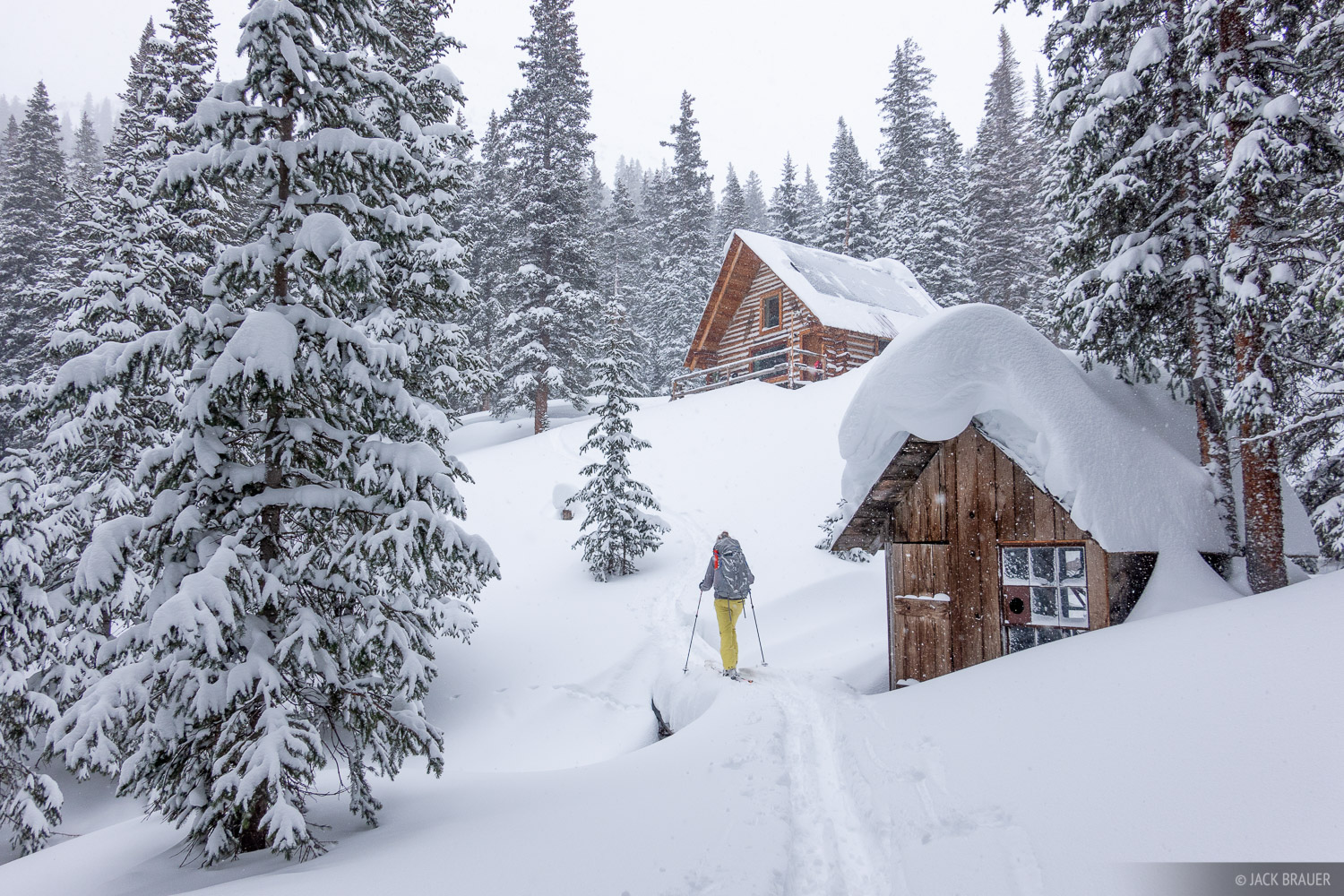Colorado, Mount Hayden Backcountry Lodge, San Juan Mountains, cabin, skinning, photo