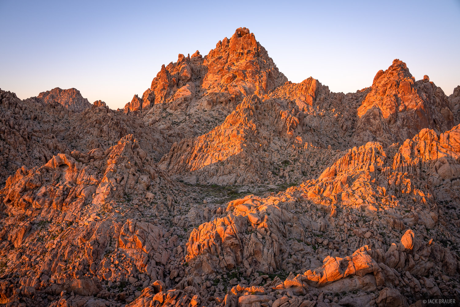Sunrise light in the Coxcomb Mountains.