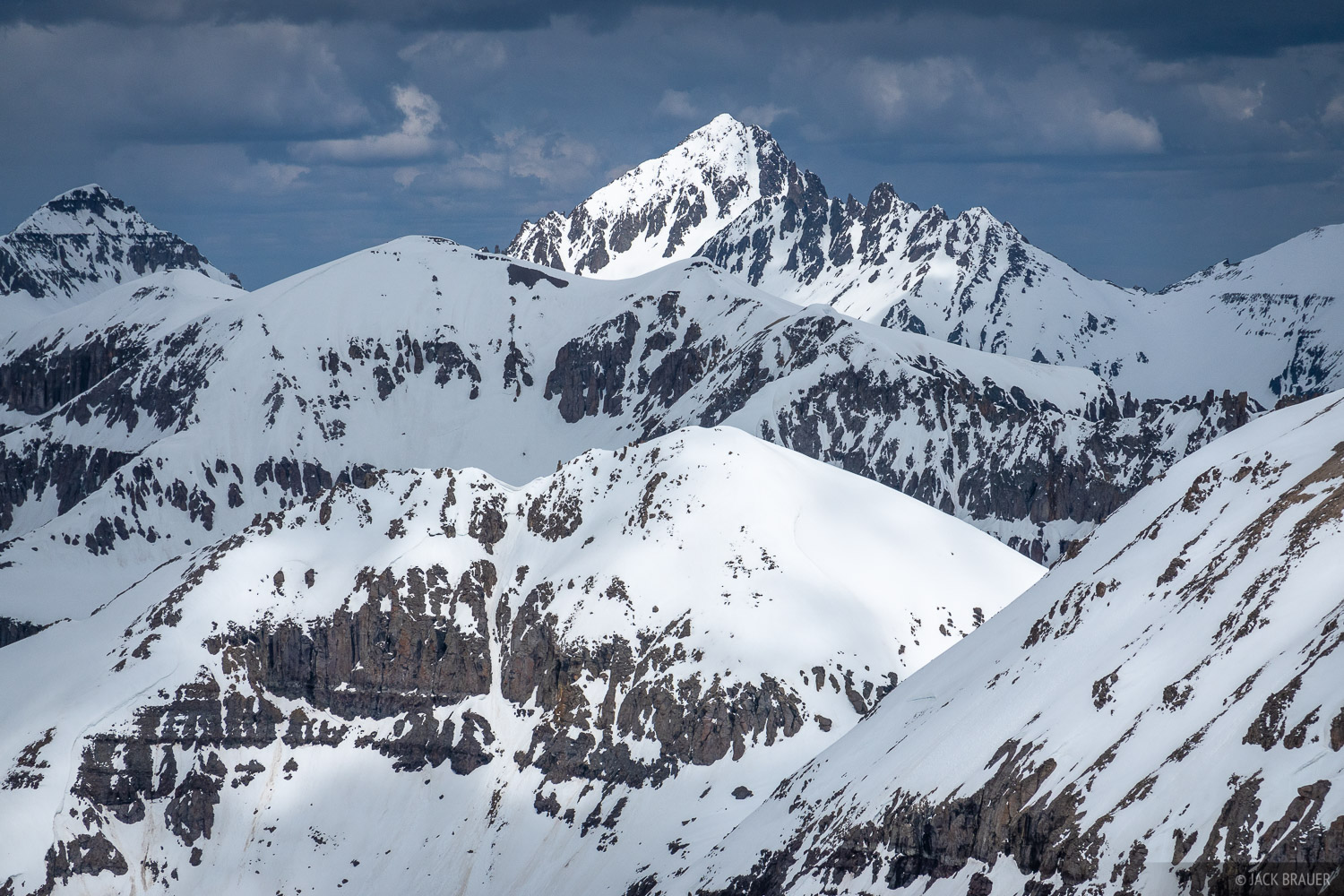 Colorado, San Juan Mountains, Mount Sneffels, Telluride Peak, May, photo