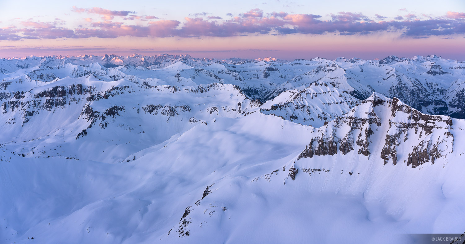Colorado, Mt. Sneffels, San Juan Mountains, Sneffels Range, sunrise, summit, photo