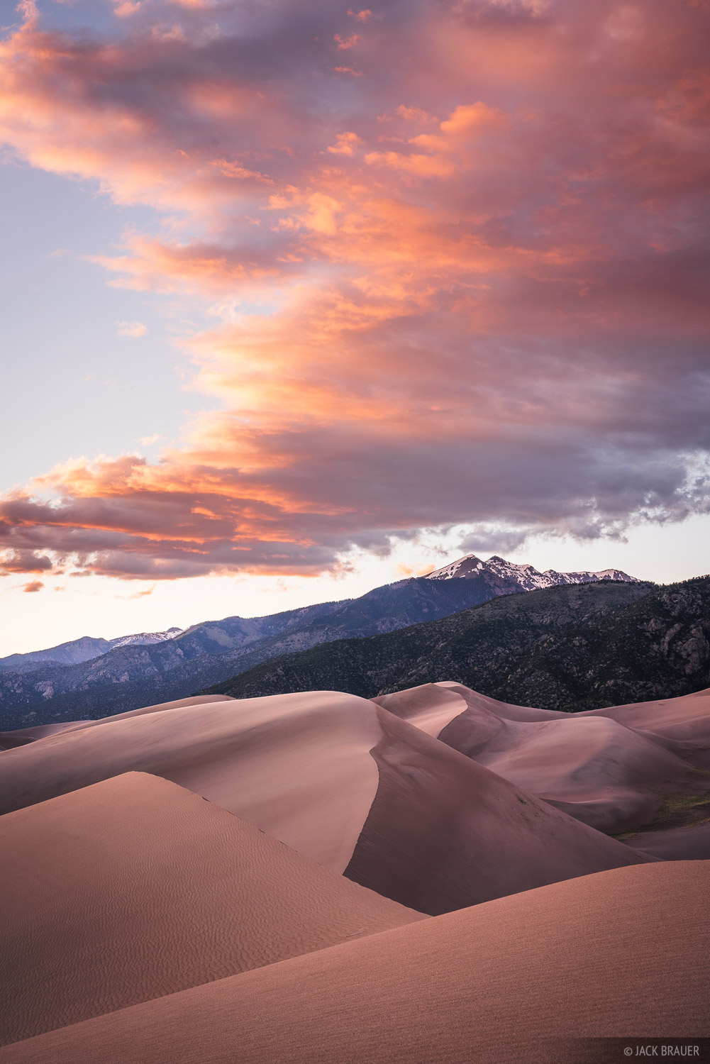 Colorado, Great Sand Dunes, sunset, Sangre de Cristos, photo