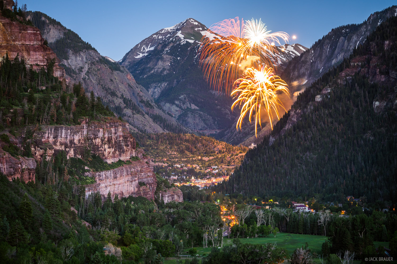 4th of July, Colorado, Ouray, San Juan Mountains, fireworks, Mount Abrams