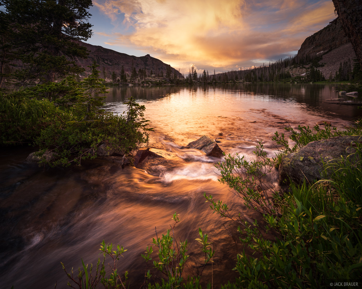 Bear River, High Uintas Wilderness, Kermsuh Lake, Stillwater Fork, Uintas, Utah, West Basin, sunset, photo