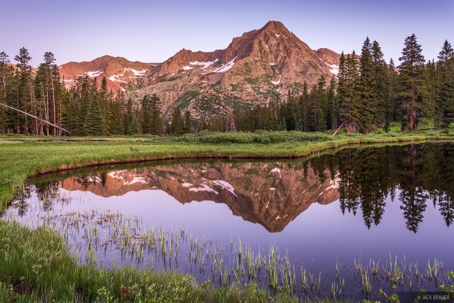 Colorado, Grizzly Peak, San Juan Mountains, reflection, sunrise, photo