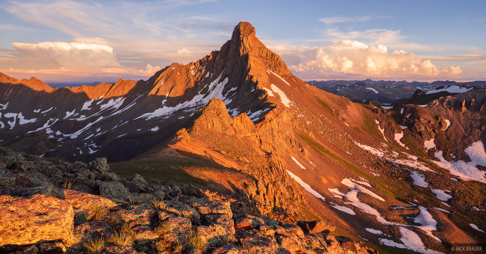Colorado, San Juan Mountains, Uncompahgre Wilderness, Wetterhorn Peak, photo