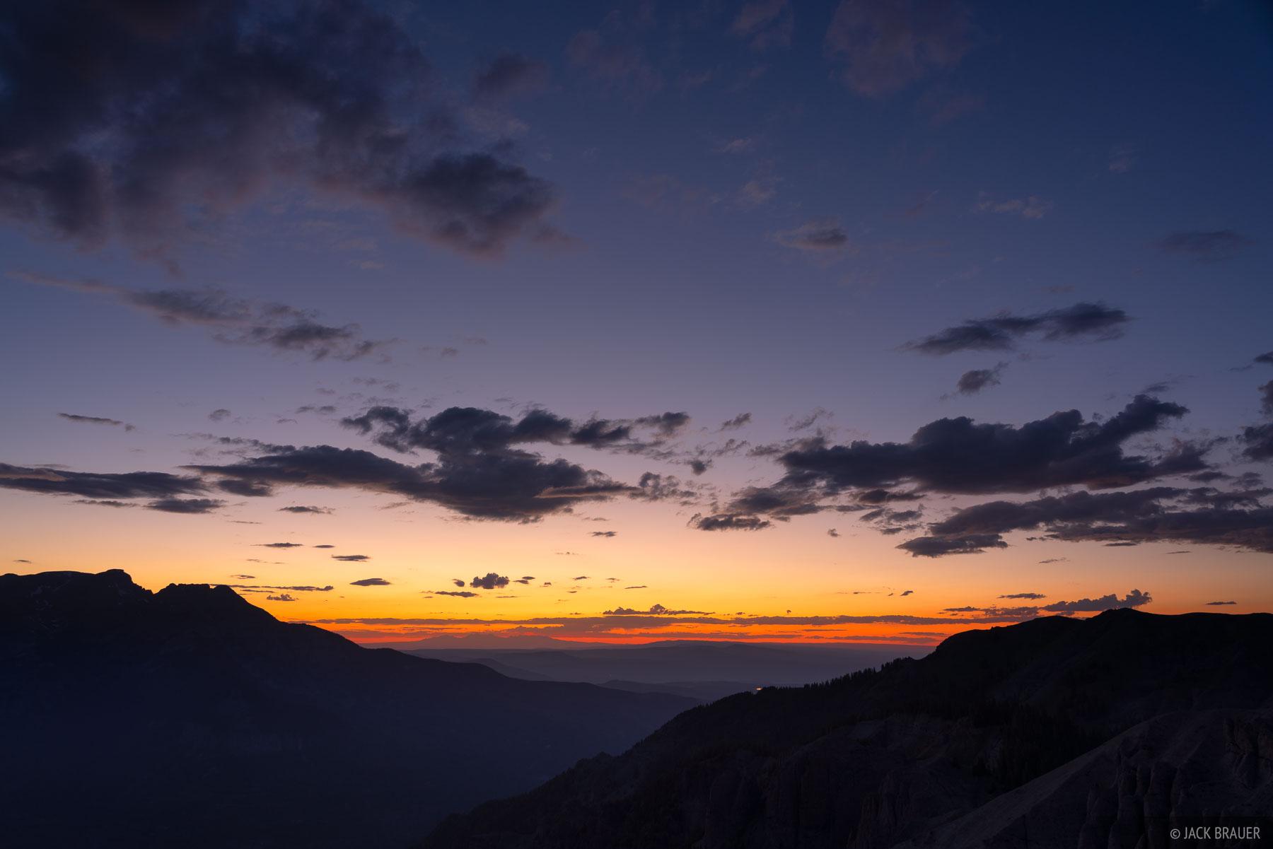 Colorado, San Juan Mountains, dusk, photo