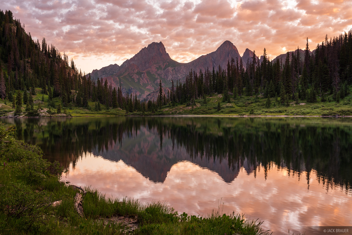 Colorado, Needle Mountains, Pigeon Peak, San Juan Mountains, Turret Peak, Weminuche Wilderness, reflection, photo