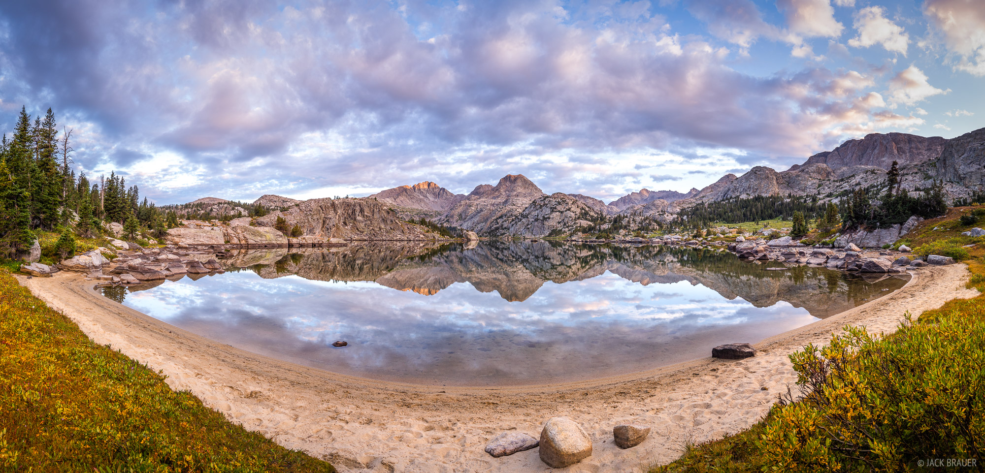 Bridger Wilderness, Cook Lakes, Mount Lester, Wind River Range, Wyoming, photo