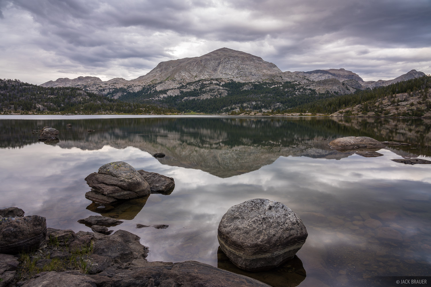 Bridger Wilderness, Lake Victor, Mount Victor, Wind River Range, Wyoming, photo