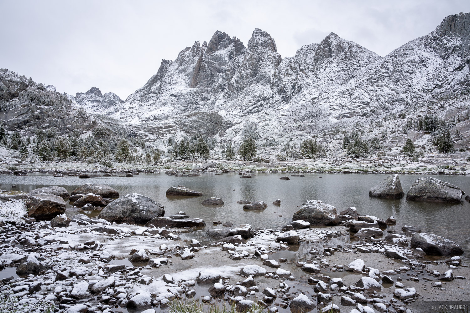 Bonneville Lakes, Bridger Wilderness, Mount Bonneville, Wind River Range, Wyoming, photo