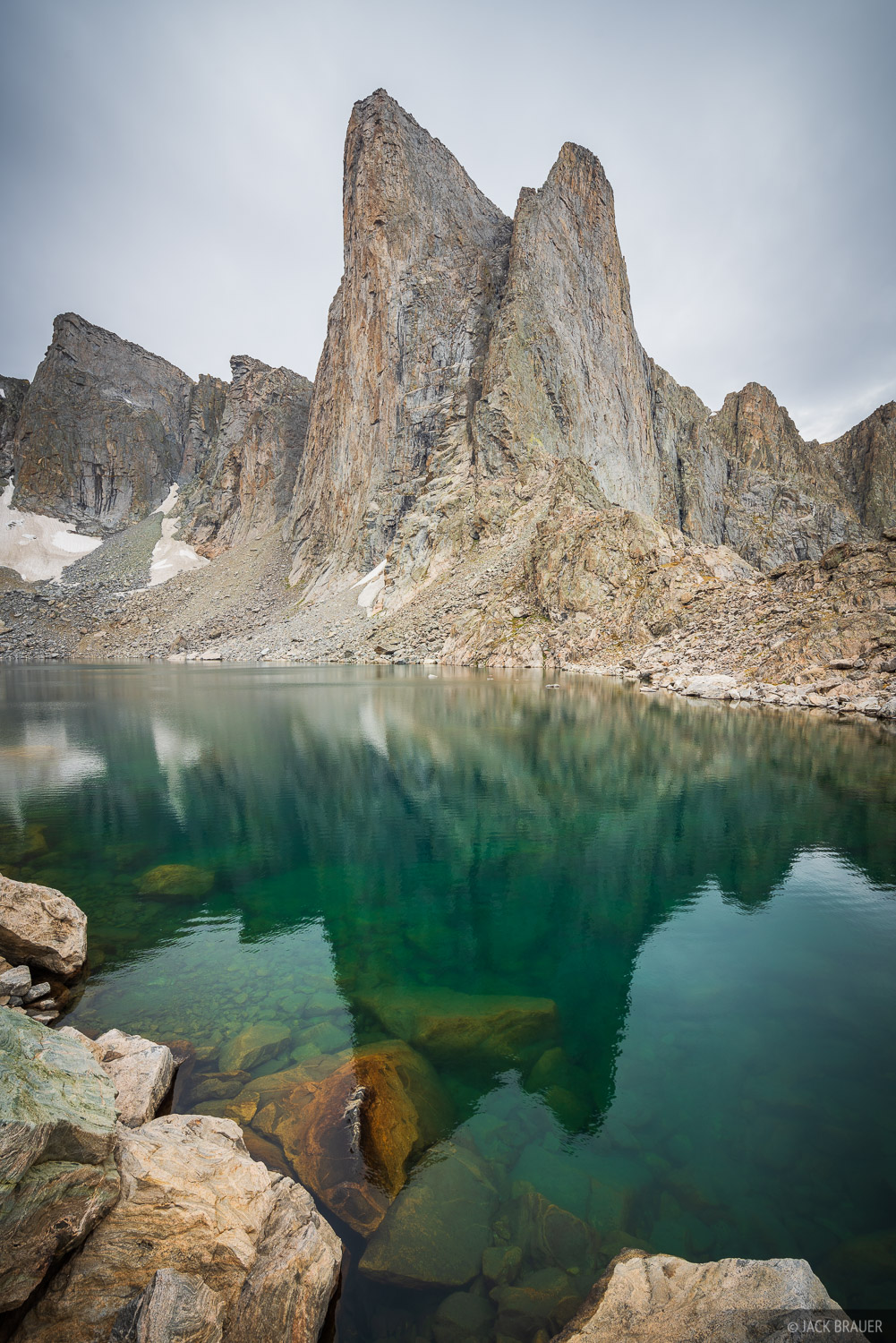Bridger Wilderness, Lake Donna, Pronghorn Peak, Wind River Range, Wyoming, photo