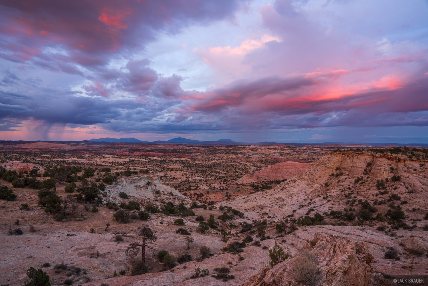 Sunset above the Escalante canyons and Henry Mountains.