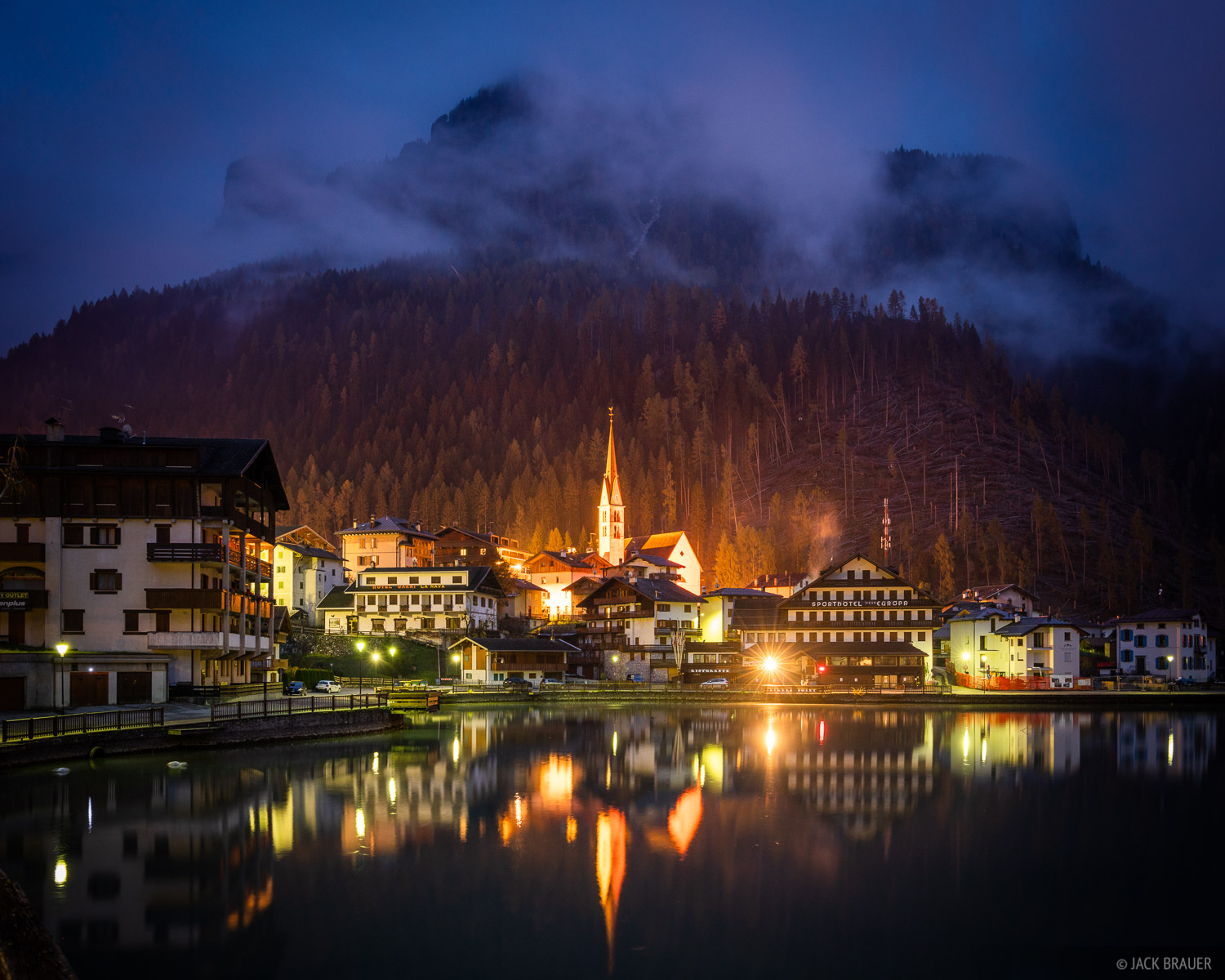 Alleghe, Dolomites, Italy, November, reflection, Alps, photo