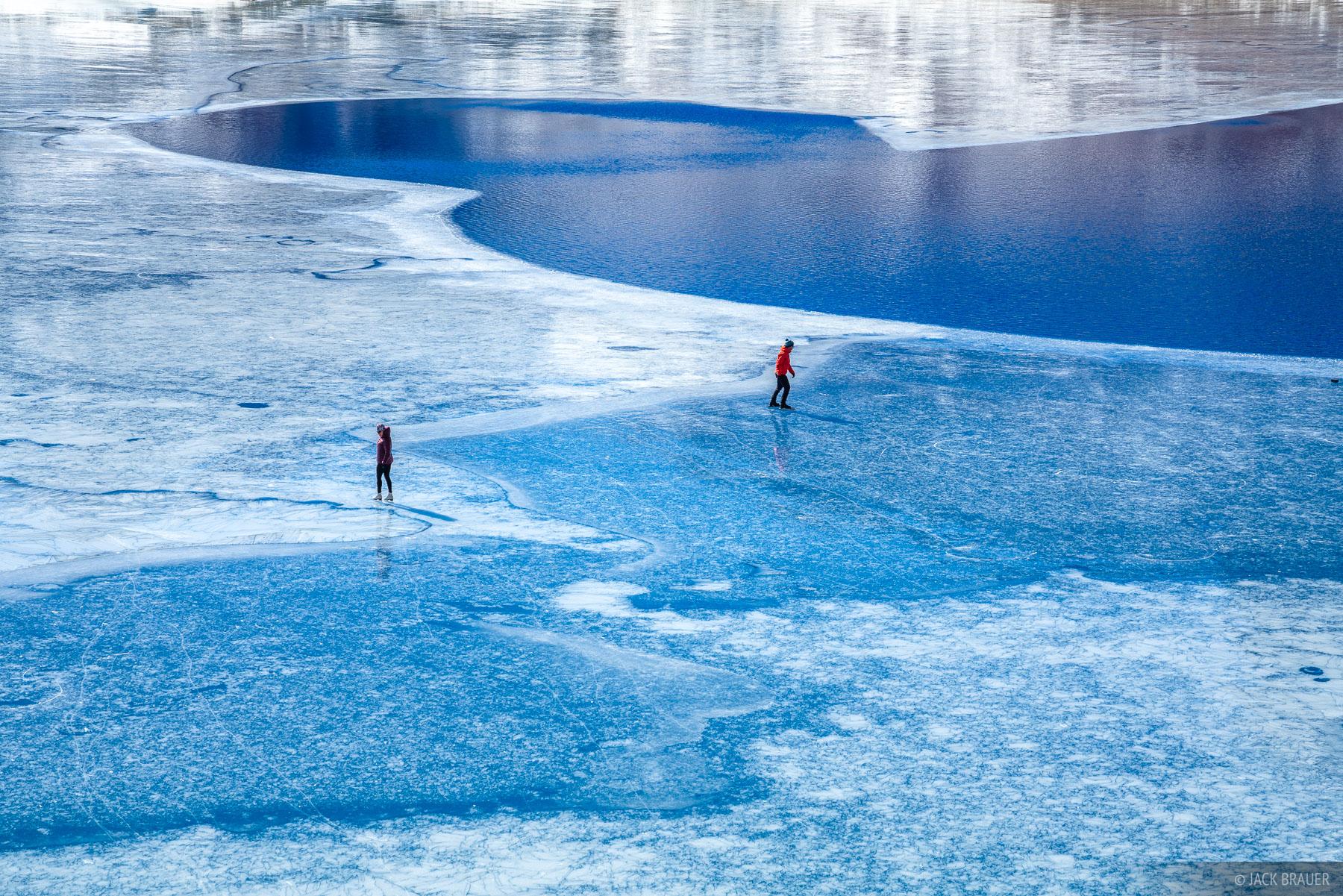 Ice skating on Ice Lake, November.