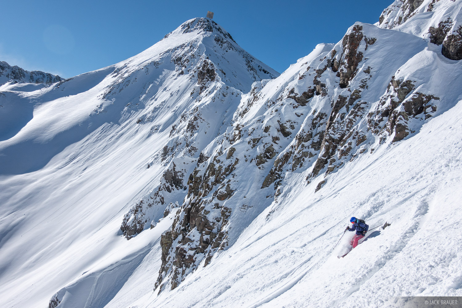 Colorado, San Juan Mountains, Silverton Mountain, skiing, Silverton, January