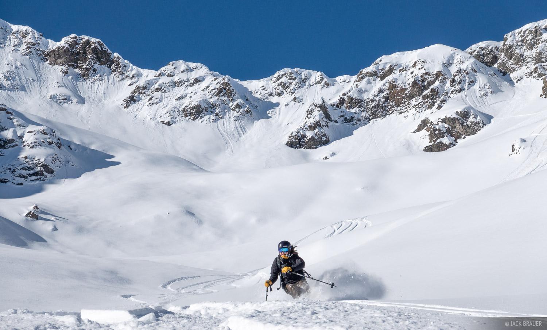 Colorado, San Juan Mountains, Silverton Mountain, skiing, Silverton, January, photo