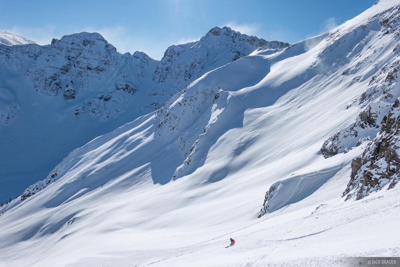 Colorado, San Juan Mountains, Silverton Mountain, skiing, Silverton, January