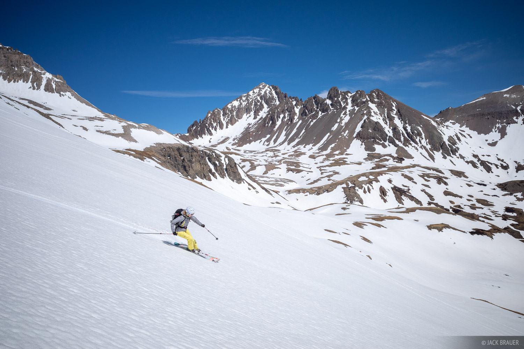 Colorado, Ema's Rollers, Mt. Sneffels, San Juan Mountains, Sneffels Range, skiing