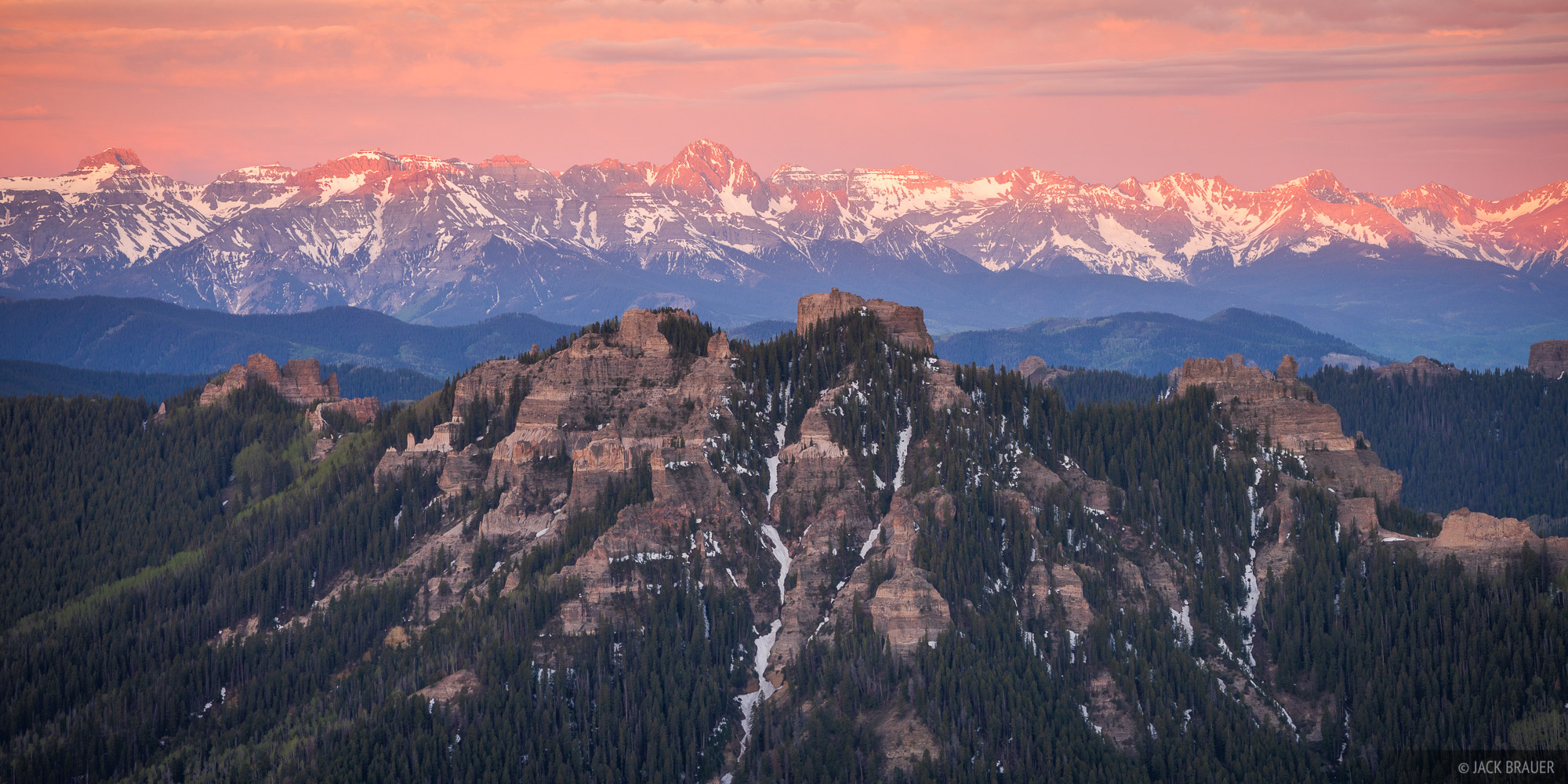 Cimarrons, Colorado, Mt. Sneffels, San Juan Mountains, Sneffels Range, sunrise, photo