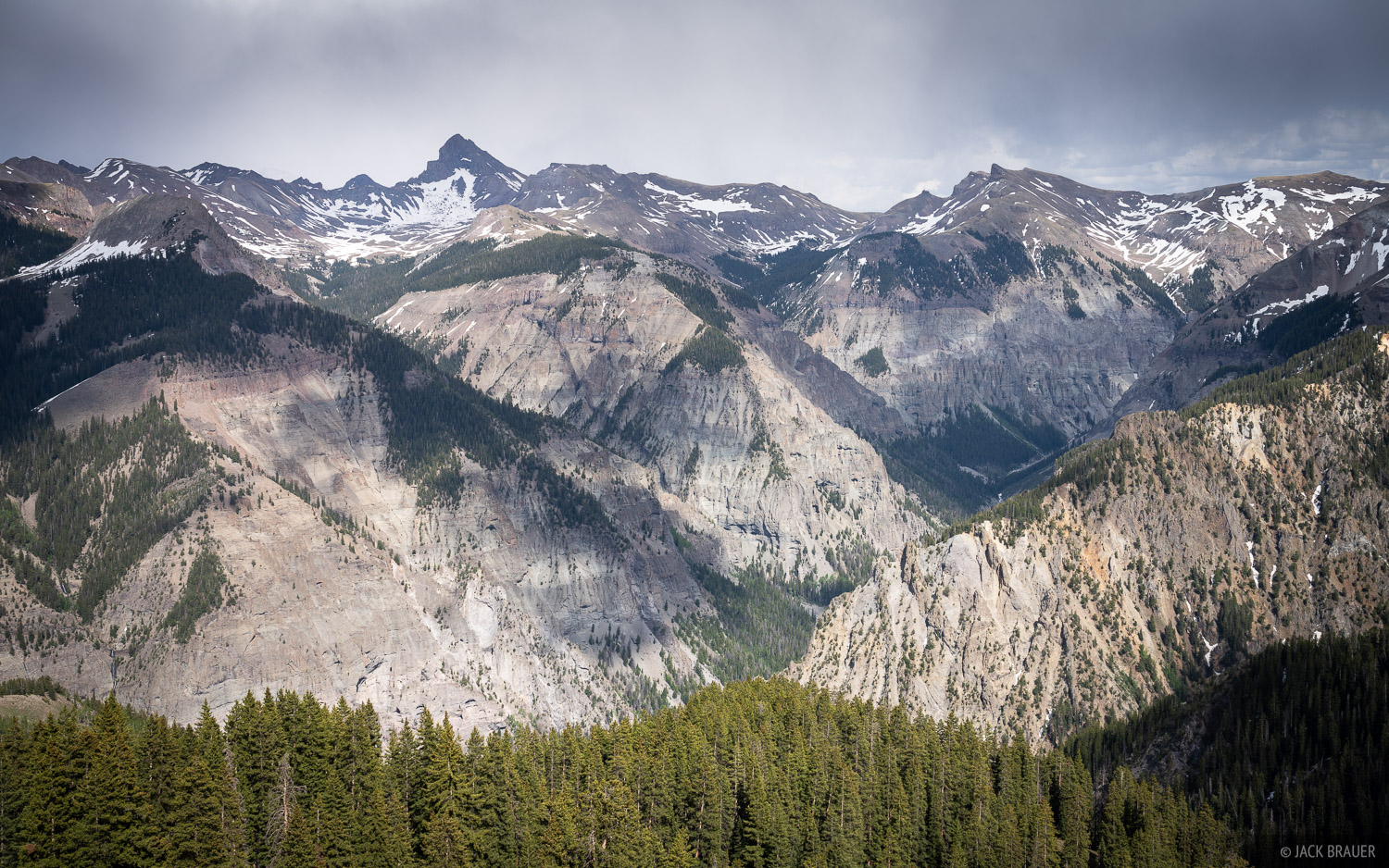 Colorado, Cow Creek, San Juan Mountains, Uncompahgre Wilderness, Wetterhorn Peak, photo