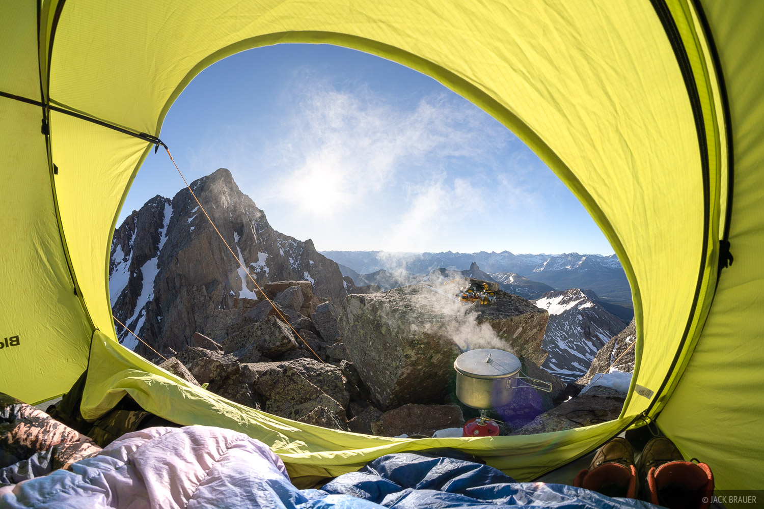 Colorado, Gladstone Peak, Lizard Head Wilderness, San Juan Mountains, San Miguel Range, tent, photo