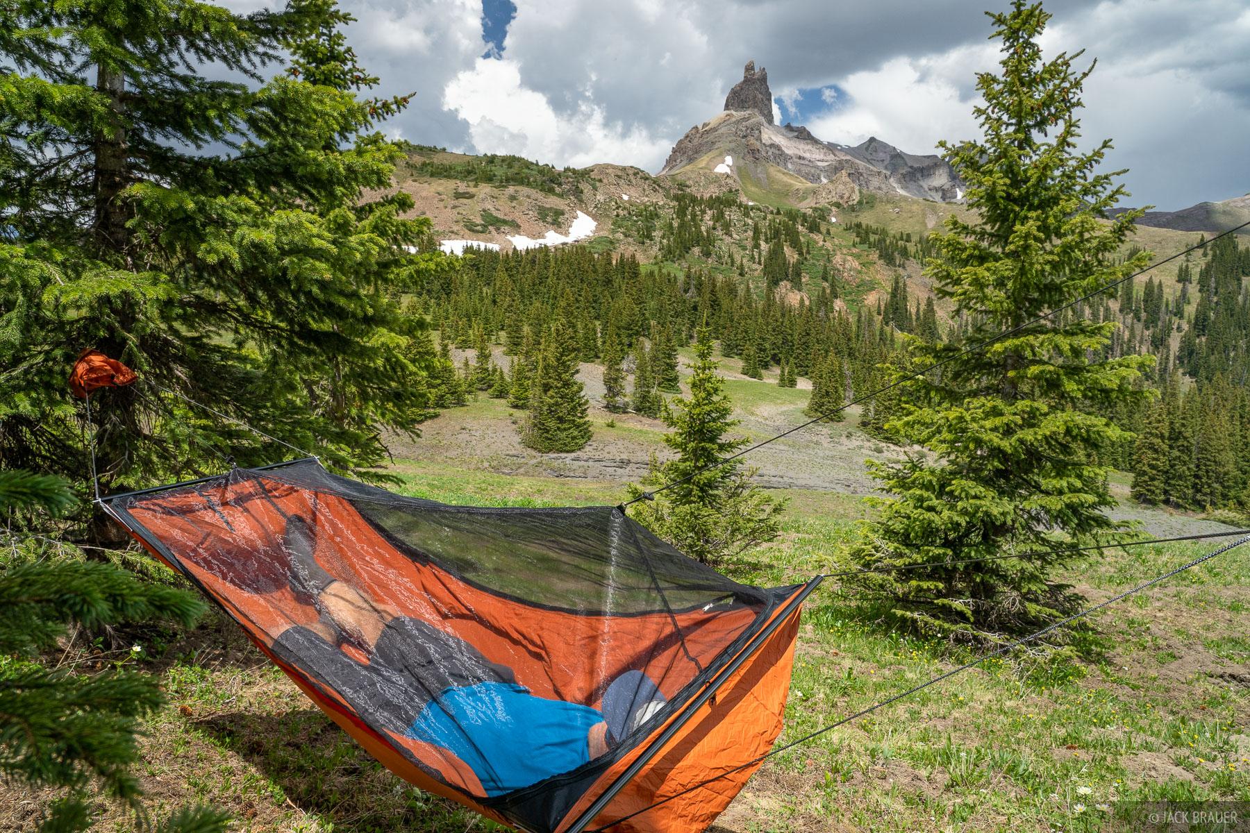 Colorado, Lizard Head Peak, Lizard Head Wilderness, San Juan Mountains, San Miguel Range, hammock, photo